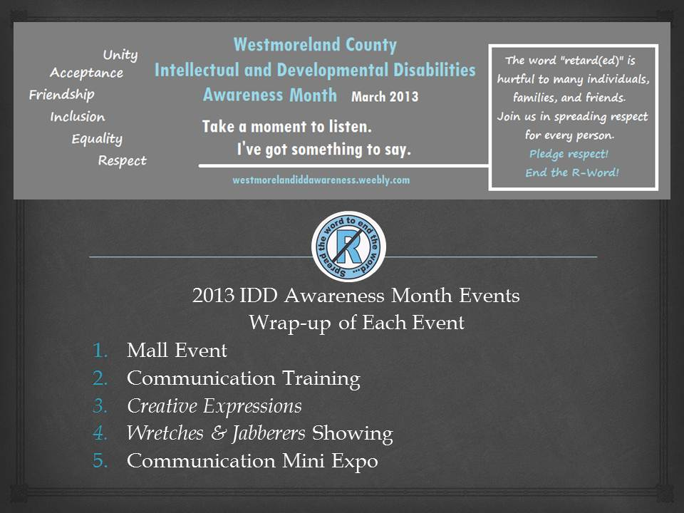 Past Years - Westmoreland County IDD Awareness
